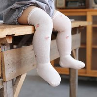 5 Colors Newborn Baby Cute Mesh Thin Long Socks Boys Girls Kids Infant Printing Knee Length Soft Breathable High Sock Summer 0-3 Years