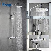 Frap 1 Set Finitura cromata in ottone Fabbricato con rubinetto doccia rubinetto rubinetto per vasca da pioggia per bagno Y24004 Set