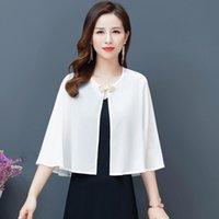 Women's Knits & Tees Boho Vintage Summer Tops Cardigan Kimono Women White Party Blouse Shawl Fashion Wedding Beach Chic Blouses Shirts Blusa