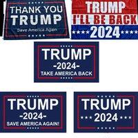 Bandeira de Trump 2024 Bandeira Eleitoral Bandeira Donald Trump Bandeira Salvar América novamente 150 * 90cm Obrigado Trump Flags 3 * 5Feet RRE5270