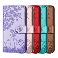Animal Sika Deer Flor Flor Carteira Capas Para Iphone 13 Pro Max 2021 12 Mini 11 XR XS x 8 7 6 Sony 10 II 5 III Floral Bonito Credit Card Card Card Slot Titular Livro Capa