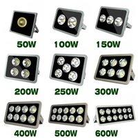 Floodlights 10pcs Led Flood Light COB Outdoor Lighting 100W 200W 300W 400W 500W 600W Floodlight Spotlight For Garden Square Lamp
