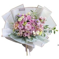 Florist Wrapping Paper 20pcs lot 58X58CM Flower Bouquet Waterproof Wrapping Supplies Wedding Valentine Flower Bouquet Gift DHD7213