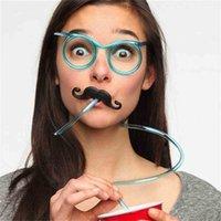 아이 패션 재미 있은 안경 짚 피펫 크리 에이 티브 이상한 안경 수염 밀짚 게임 소품 할로윈 파티 어린이 화려한 게임 생일 g89sftq