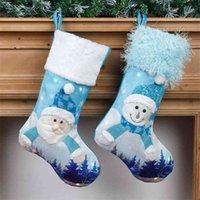 밝은 크리스마스 양말 장식 파란색 빛나는 장식 양말 크리스마스 큰 선물 가방 크리스마스 트리 펜던트 장식 펜던트 판매 G78Lua9