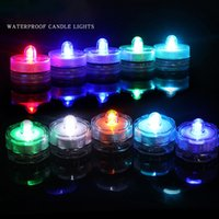 LED Tea Light Festival Decor IP65 Waterproof Floral Round Multi Colors Submersible Lights Colorful Battery Operated Candle Lamp for Wedding Party