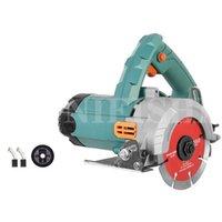 220V Electric Wood Stone Tile Cutting Machine Concrete Slotting Machine Metal Cutting Saw Portable Marble Cutter 1700W 110MM