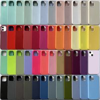 With LOGO Original Official Silicone Phone Cases For iPhone 13 Pro Max 12 11pro Xr Xs X 6s 7 8 13pro Super Fiber Scratchproof 3-in-1 Knockproof Cover