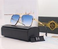 Uomini di lusso Brand Dita-Top Donne sole maschio femminile occhiali da sole per moda coppia occhiali 30