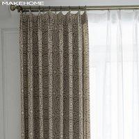 Занавес Drapes Makehome Корейский стиль льняных штор для спальни гостиной геометрический напечатанный оконный современный дом декор ткани