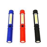 Açık LED Aydınlatma Lanterna Çalışma Bakım Lambası Kalem Şekli Taşınabilir El Feneri Çok Fonksiyonlu COB Işık Mıknatıs Güç Tasarrufu 4ATO O1