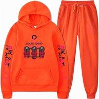 Bläckfisk Spel Höst Vinter Barnens Tracksuit Casual Sports Sweatshirts Mode Cartoon Hoodies Pullover Par Sweater Two-Piece Set Kläder G05i850