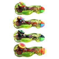 Silicone Bongs Resin Water Pipe Tobacco hookahs Hand Pipes smoking squid wax dab rigs portable unique