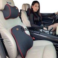 Car Pillow Seat Headrest Auto Slow Rebound Guard Lumbar Pillow Set Memory Cotton Protector Neck Rest Head Support For Universal