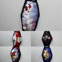 Wiederverwendbare Weihnachten Waschbare Gesichtsmaske Erwachsene Gesicht Fasion Für Kinder Maske Masken Staubfest Dunst Drucken Design Facemaskw1