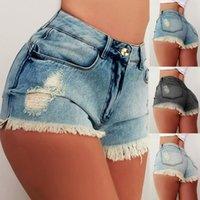 Women's Jeans Fashion Womens Pocket Light Wash Fake Zipper Plus Size Skinny Denim Pants Casual Sexy Woman Shorts Cuffs Vintage