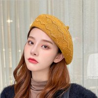 Berets Women Winter Warm Wool Beret Caps Artist Hats Pumpkin Hat Painter Soft Knitted Fashion Gifts Female