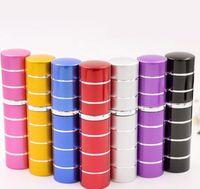 7 cores 10ml 10cc 5cc 5ml mini linhas coloridas pulverizador de viagens frascos de perfume recarregável atomizador vazio portátil