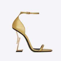 Moda Yüksek Topuklu 2021 Bayan Ayakkabıları Şerit Kombinasyonu Ile 10.5 cm Deri Malzeme Boyutu 35-42
