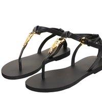 Летние львы плоские кожаные сандалии с открытым носком кожа, прохладные голеностопные ремень женщин свадебные вечеринки платье обувь