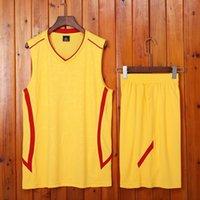 Случайные беговые носить костюм молодежь мужской без рукавов спортивный костюм лето желтый свободный плюс размер жильщик дышащий