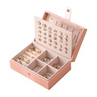 Leather Jewelry Display High Quality Fashion Design Ring box Gift Choice Love recomended Factory Sale 211014