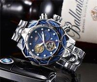 2021 Ingiota Brand Luxury Mens Watches Invicta الجديد التلقائي تاريخ الفولاذ المقاوم للصدأ الذهب الأزياء ووتش الكلاسيكية نمط 1