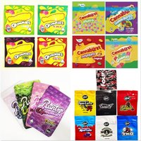 Empty 500mg 600mg Cannaburst Delta 8 gummies packaging bags sour berries tropical Runty edibles candy gummy smell proof resealable zipper package bag