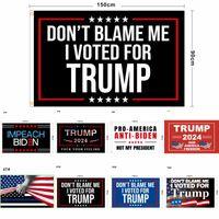 86 desenhos fábrica direta 3x5 FT 90 * 150 cm Salvar América novamente Trump Flag para 2024 Presidente EUA DHL 3-7 Dias Navio