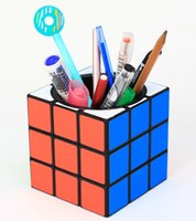 3x3 Pen Holder Magic Cube Case Piggy Bank 3x3x3 9.5cm Speed Cubo Twist Puzzle Office Decoration Gifts Toys for Kids Adults