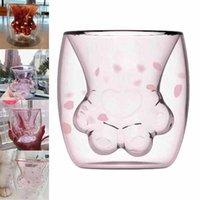 스타 벅스 머그잔 제한기구 고양이 컵 도매 starbuck 고양이 발 고양이 클로 커피 머그잔 장난감 사쿠라 6 온스 핑크 더블 벽 glas