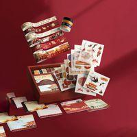 Cadeau Wrap Washi Paper Ruban DIY Décoration Sticker Compte Main Bronzing Anti-Font avec Boîte Pour Scrapbooking Artisanat