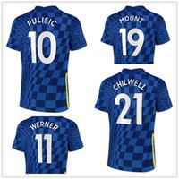 29 Havertz 10 Pulisic 22 Ziyech 9 Abraham 19 Mount 11 Werner Thai Qualität Fussball Jersey Großhandel 20-21 Away Home Customized Jersey