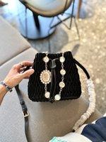 2021 Autumn winter velvet luxury Famous Designer Women Fashion handbags Shoulder Bags Cross Body Clutch Bages Bucket Premium gem chain