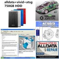 2021 Hot AllData Auto Repair Soft-Ware Todos os dados V10.53 + ATSG + Workshop vívido com disco rígido de 750GB