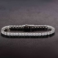 100% 925 Sterling Silver 3.7mm Lab Diamond Simulated Moissanite Tennis Bracelets for Women Men Party Birthday Fine Jewelry