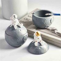 Creativity Home Deocr Ashtray Funny Astronauts Resin Tray Mold Cigar Pretty Cool Cute Girly 210402