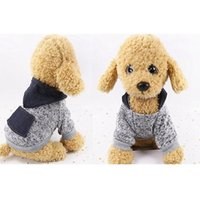 Dog Apparel 2-legged Costume Knitting Sweater Pet Clothes Snowflake Fabric Soft Autumn And Winter Hoodie With Denim Pocket PLLP A
