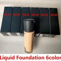 Fundación líquida 6Color 35ml SPF15 NC15 NC20 NC25 NC30 NC35 NC40 Corredor alegre