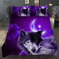 Bedding Sets 3D Duvet Quilt Cover Set Wolf Animal Print Single Double Twin Full Queen King Size Bed Linen For Children Kid Adults