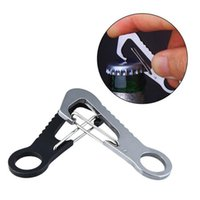 Cords, Slings And Webbing 2 Pcs/Set Arrival D Type Buckle Bottle Opener Hang Quick Release Hook Outdoor Stainless Steel Carabiner Keychain