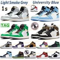 Erkekler 1 1 S OG Yüksek Karanlık Mocha Orta Işık Duman Gri Kadınlar Basketbol Ayakkabı Üniversitesi Mavi Büküm Gölge Gümüş Kraliyet Toe Chicago Sneakers
