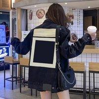 2021 Париж осень зима мода дизайнер мужской пиджак пару джинсы черный женский пальто толстый стиль личности европейский большой размер S-2XL