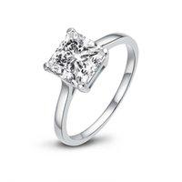 LESF 925 Silber Trendy Engagement Design Für Frauen Synthetische Diamant Elegante Ringe Weibliche Hochzeit Schmuck