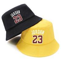 Summer Bucket Hats Jordan 23 Print Foldable Fisherman Hat Woman Soft Beach Sun Fisherman Cap Man Fashion Soild Panama Bucket Hat