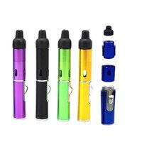Tubo de fumar Encendedor Click N Vape Sneak A Vape Sneak A Toke Vaporizador de hierbas E-Cigarette Agua y antorcha a prueba de viento