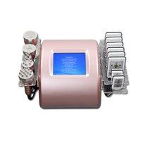 6 in 1 40k Ultrasonic Cavitation Slimming Machine Vacuum Radio Frequency 8 Pads Burn Laser Diode Lipo Weight Loss Body Shape Beauty Equipment
