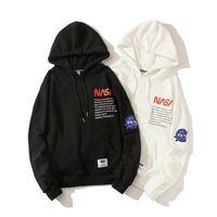 Lettres NASA imprimées Hommes Casual Casual Sweats à capuche High Street Pull-Street Homme HIP HIP HOP Sweatshirts Taille M ~ XXXL