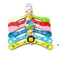 Animais bonitos dos desenhos animados animal de estimação cão de madeira cabide crianças roupas bebê crianças meninas 6 estilos hwb9094