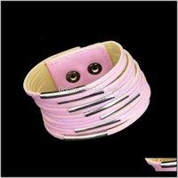Vintage Geniş Bilezik Wrap Düğmesi Toka Orijinal Örgülü Halat Bileklik Erkekler Kadınlar Için TPO0Q Bilezikler TPRAH